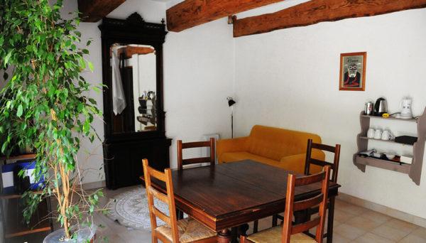Salon commun chambres d'hôtes Sète